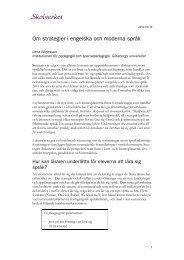 Strategier i engelska och moderna språk