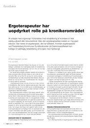Kronikere - Ergoterapeutforeningen