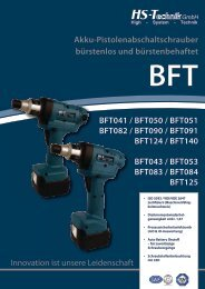 Download detailliertes Datenblatt (PDF) - HS-Technik