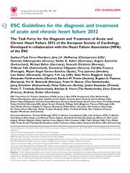 ESC Guidelines for the diagnosis and treatment of acute and ... - sicoa