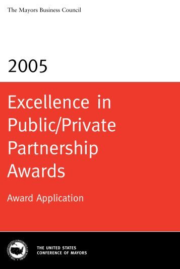 2005 Public/Private Partnership Awards Brochure - U.S. Conference ...