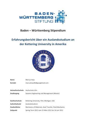 Erfahrungsbericht - Marcus Haas - Hochschule Ulm