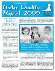 Water Quality Report 2009 - Watsonville California