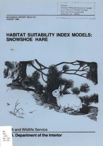 habitat suitability index models: snowshoe hare - USGS National ...