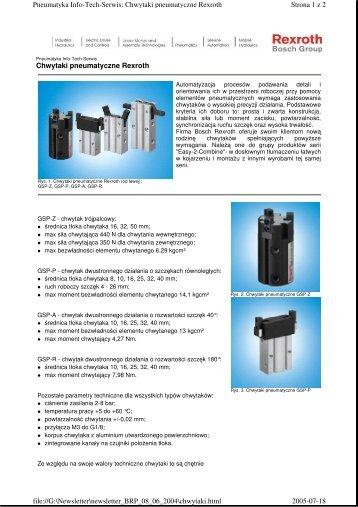 Chwytaki pneumatyczne Rexroth Strona 1 z 2 Pneumatyka Info ...