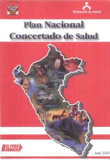 Plan Nacional Concertado de Salud - Bvs.minsa.gob.pe - Ministerio ...