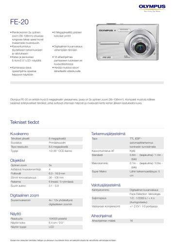 FE-20, Olympus, Compact Cameras