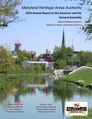 2010 Annual Report - Maryland Historical Trust - Maryland.gov