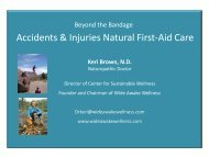 Accidents & Injuries Natural First-Aid Care