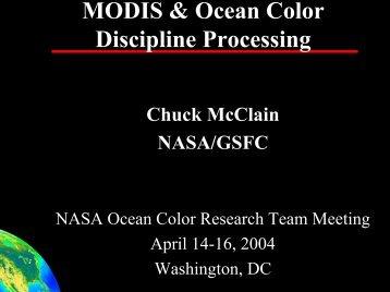 MODIS Terra/Aqua - Ocean Color - NASA