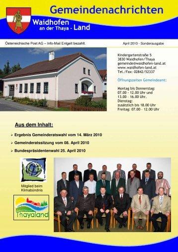 (1,73 MB) - .PDF - Waidhofen an der Thaya-Land