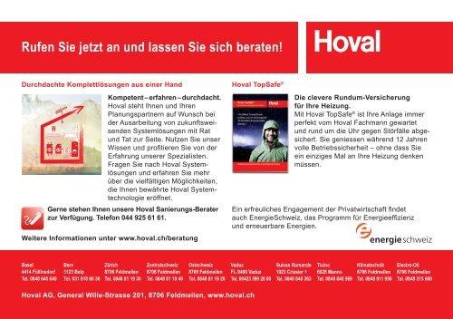 Bis zu CHF 800.– - Hoval Herzog AG