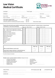 Low Vision Medical Certificate (Adult) - Association for the Blind of WA