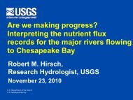 Are we making progress? Interpreting the nutrient flux records for the ...