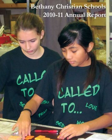 Bethany Christian Schools 2010-11 Annual Report