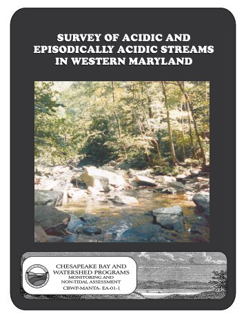 Survey of Acidic and Episodically Acidic Streams in Western Maryland