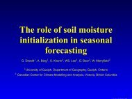 The role of soil moisture initialization in seasonal forecasting - GOAPP