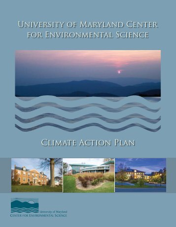 Climate Action Plan - The University of Maryland Center for ...