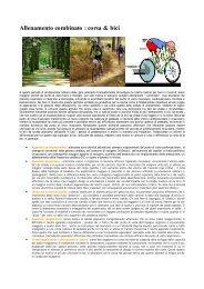 Allenamento combinato : corsa & bici