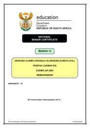 IsiXhosa FAL P2 Exemplar 2009 Memo.pdf