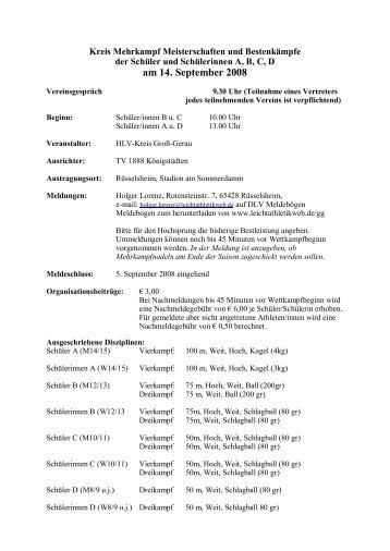 am 14. September 2008 - Leichtathletikweb.de