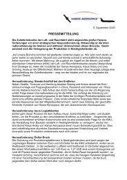 PRESSEMITTEILUNG - HANSE AEROSPACE e.V