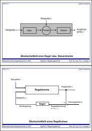 Blockschaltbild einer Regel- bzw. Steuerstrecke Blockschaltbild ...