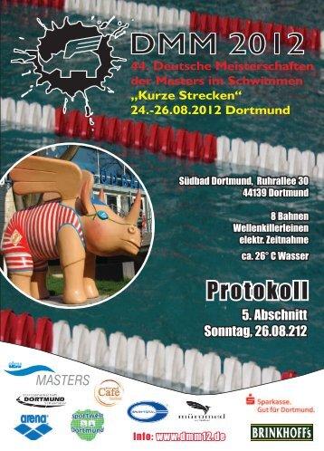 """Protokoll Abschnitt 5 - Deutsche Meisterschaften """"Kurze Strecke"""""""