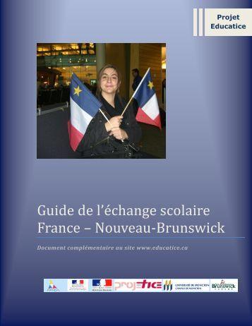 Guide de l'échange scolaire France – Nouveau-Brunswick - acelf