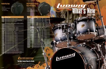 The Most Famous Name On Drums. Padded Gig Bags Side ... - Ludwig