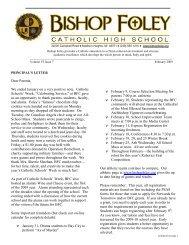 February 2009 v2 - Bishop Foley Catholic High School