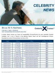 CELEBRITY NEWS - Celebrity Cruises