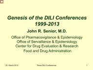Genesis of the DILI Conferences 1999-2013 - AASLD
