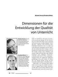 Dimensionen für die Entwicklung der Qualität von Unterricht (5 ...