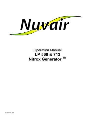 LP 560 and 713 Rotair Nitrox - Nuvair
