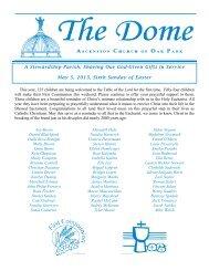 May 05, 2013 - Ascension Catholic Church