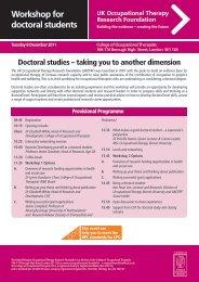 Download the Doctoral Workshop application form - College of ...