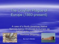 The Crayfish Plague of Europe (1860-present)