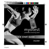 Quick Start Guide IT - myotest