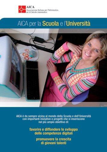 """scaricare il volantino """"AICA per la Scuola e l'Università"""