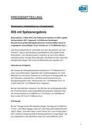 PM IDS mit Spitzenergebnis 2011 - IDS Logistik GmbH