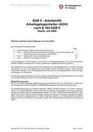 SGB II - GemeinwohlArbeit