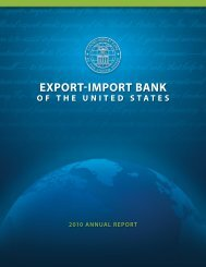 complete report here - Export-Import Bank of the United States