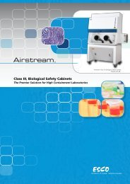 Class III, Biological Safety Cabinets - Esco