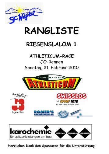Athleticum-Race RS 1+2 JO 21/2/2010
