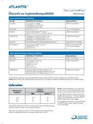 Lieferzeiten Übersicht zur Implantatkompatibilität ... - Astra Tech