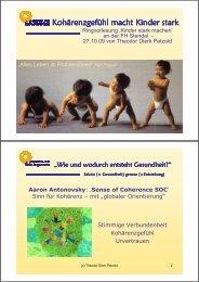 Köhärenzgefühl macht Kinder stark - Hochschule Magdeburg-Stendal