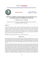 Antibiotic susceptibility of selected pathogenic bacteria isolated from ...