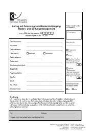 Antrag auf Zulassung zum Masterstudiengang Medien ... - Md-phw.de
