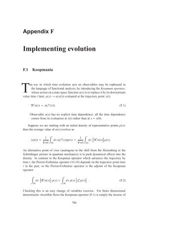 Appendix F Implementing evolution - ChaosBook